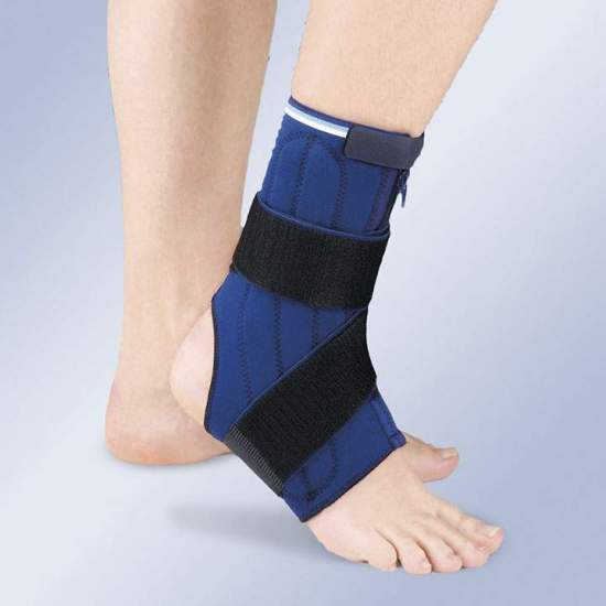 STABILIZING ANKLE IN NEOPRENE WITH DOUBLE SIDE MIDDLE WHALES