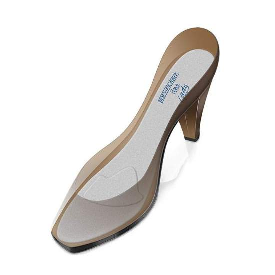 EXTRAFINA MODELLI IN SILICONE FODERATI CON METATARSAL-FINE LADY PL-700F PAD -  Nuove solette extra-sottili in silicone flessibili, SOFY-PLANT Fine Lady che si adattano perfettamente alle calzature da donna (tacchi o scarpe piatte), grazie al loro spessore minimo, ideale da indossare durante la giornata. Foderato...