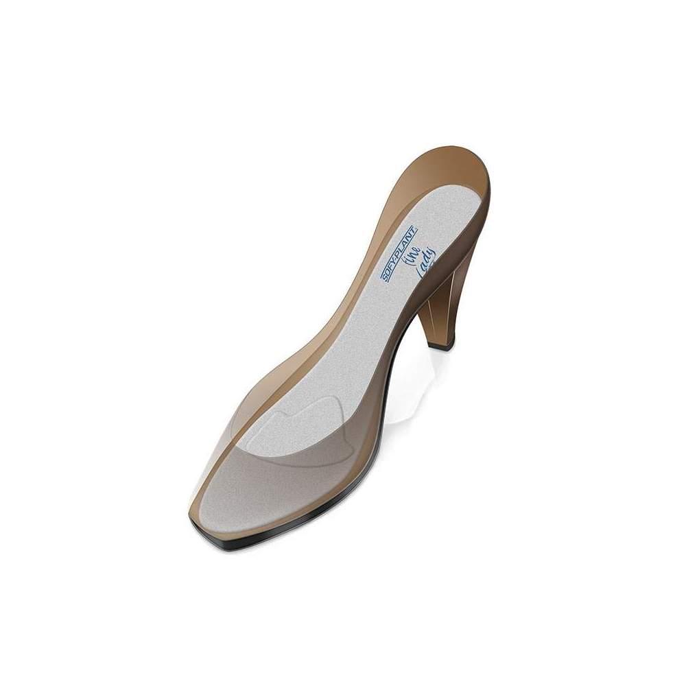 EXTRAFINA GABARITS DE SILICONE DOUBLÉS DE PAD METADARSAL-FINE LADY PL-700F -  Nouvelles semelles souples ultra-fines en silicone SOFY-PLANT Fine Lady qui s'adaptent parfaitement aux chaussures pour femmes (talons ou chaussures plates) en raison de son...