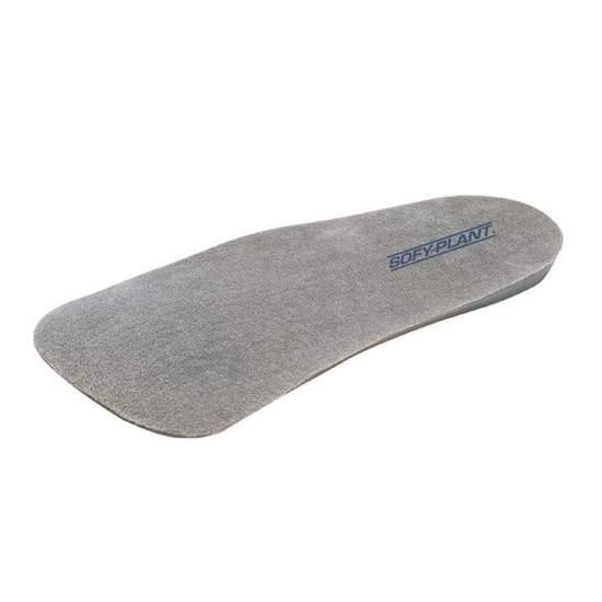 GABARIT DE SILICONE DOUBLÉ 3/4 PL-760F -  Semelles en silicone viscoélastique avec supports métatarsiens et calcaneus de différentes densités et avec pont. Doublure en polyester hypoallergénique qui empêche la croissance bactérienne et est facilement lavable.