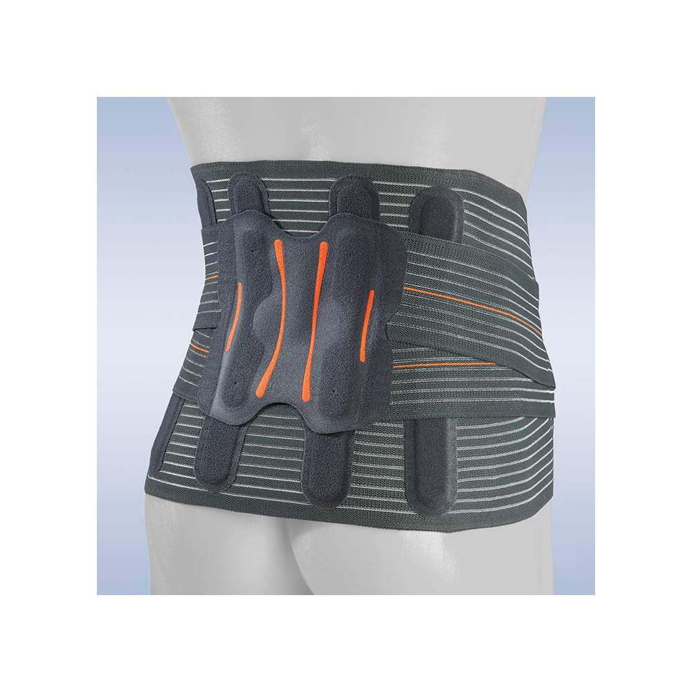 """SEMIRRIGATED SEMI-RIGID BELT """"LUMBITRON ELITE DUO"""" LTG-305 -  Orthoses made of breathable multiband material, which provides us with a uniform compression when it is made with a seamless technique, avoiding annoying rubs and the loss of..."""