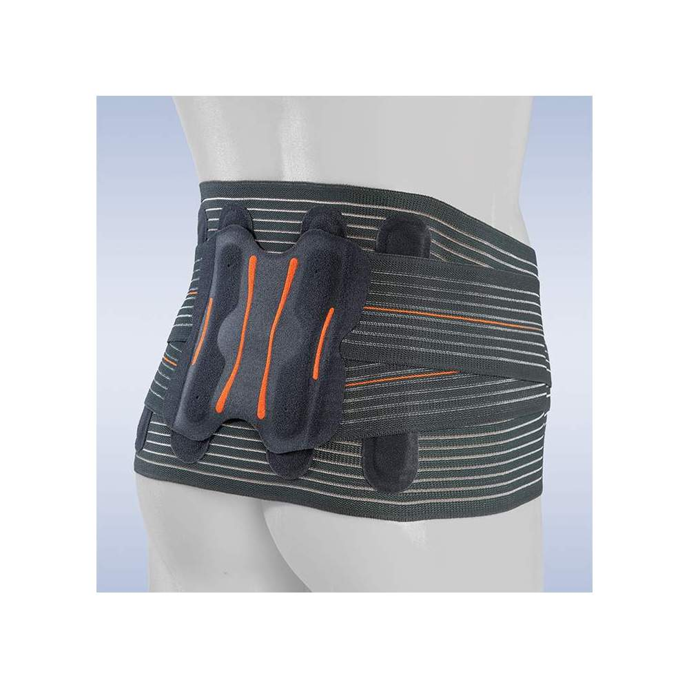 SEMI-RIGID SACROLUMBAR BELT LUMBITRON ELITE DUO SHORT -  Orthoses made of breathable multiband material, which provides us with a uniform compression when it is made with a seamless technique, avoiding annoying rubs and the loss of...