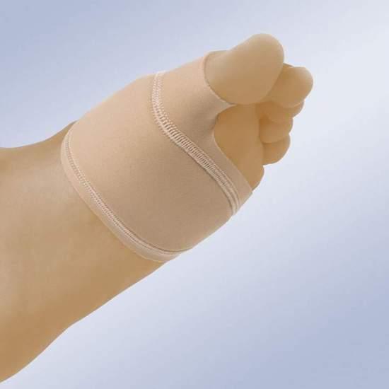 Protector De Juanetes Con Almohadilla Metatarsiana Orliman GL-208 - El protector está confeccionado en tejido elástico fino el cual incorpora una almohadilla en gel polímero que amortigua la zona de los metatarsos y el juanete, de escaso espesor es discreto y no se mueve. Se adaptan tanto para pie...