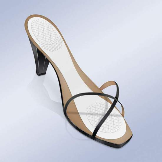 GABARITS D'ADHÉSIF 3/4 EN GEL AVEC ZONE DE DÉCHARGE À TALON ET ANTEPY PS-22 -  Des inserts adhésifs avec gel antidérapant et invisible aux 3/4 absorbent la pression et procurent un confort aux pieds lorsque vous portez vos chaussures préférées (talons ou chaussures plates) toute la journée, au travail ou pendant...