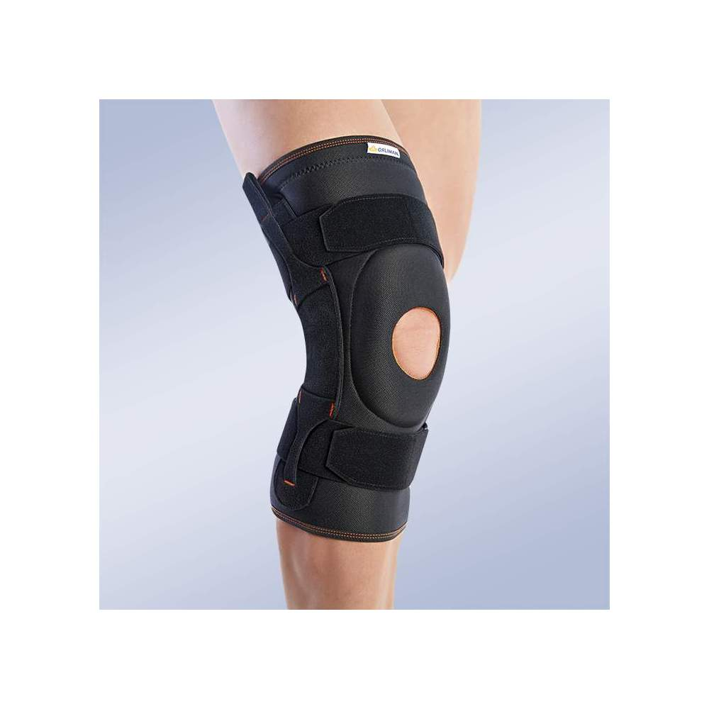 BREATHABLE TRICAPA KNEE WITH ROTULIANA PILLOW 7104 - Knee brace made of breathable elastic three-layer material. It consists of 3 layers that are divided into an elastic fabric based on microfibres, polyurethane foam and cotton...