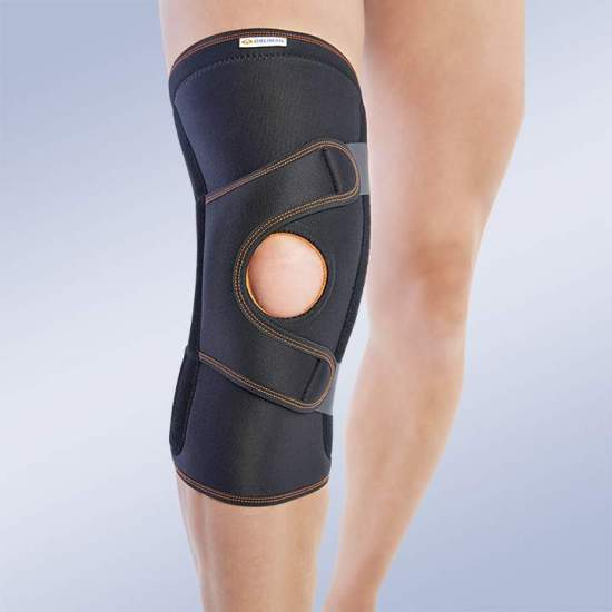 KNEE CONTROL KIT ROTULA 7117 - Knee brace made of breathable elastic three-layer material. It consists of 3 layers that are divided into an elastic fabric based on microfibres, polyurethane foam and cotton curl, which facilitates rapid dispersion of sweat, greater...