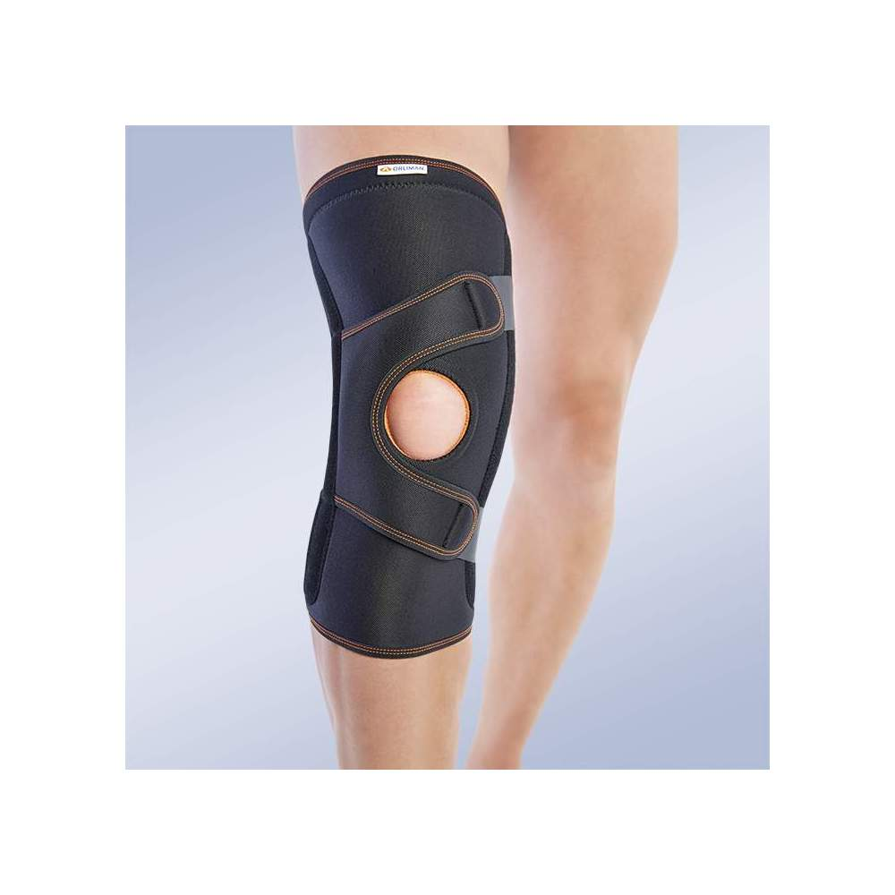 KNEE CONTROL KIT ROTULA 7117 - Knee brace made of breathable elastic three-layer material. It consists of 3 layers that are divided into an elastic fabric based on microfibres, polyurethane foam and cotton...