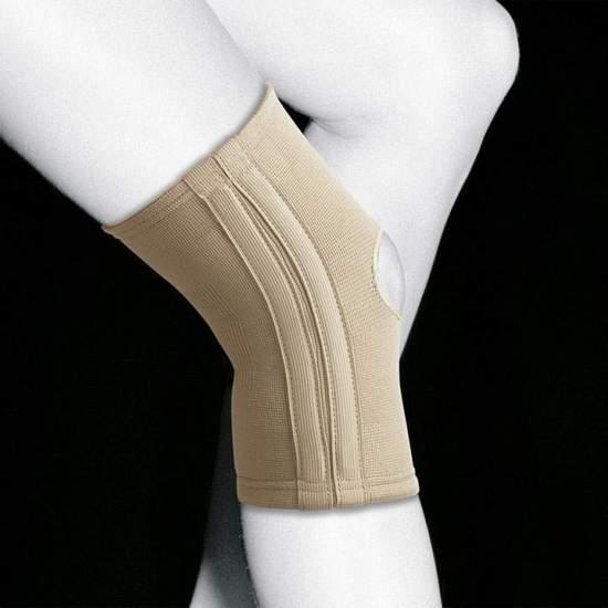 GINOCCHIERE ELASTICO CON STRISCE TN-211 - Linea elastica e traspirante realizzata in tessuto elastico molto resistente e morbido, che dona ai capi maggior comfort. Questo tessuto offre compressione e flessibilità nei 4 sensi, il che conferisce all'ortesi un migliore adattamento....