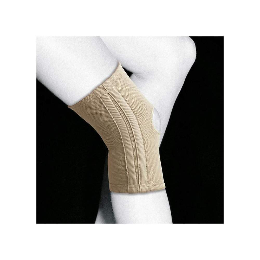GINOCCHIERE ELASTICO CON STRISCE TN-211 - Linea elastica e traspirante realizzata in tessuto elastico molto resistente e morbido, che dona ai capi maggior comfort. Questo tessuto offre compressione e flessibilità nei 4...