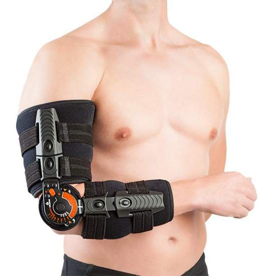 Elbow Elbow Orthosis - Elbow orthosis with unilateral monocentric joint for a perfect control of the amplitude of movements or immobilization of the  elbow. The contact with the member is made by means of soft foam pieces that offer air permeability and...