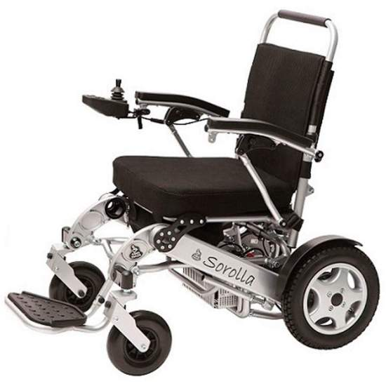 copy of Electric folding chair Sorolla D - Electric chair super-ligéra DEMONTABLE aluminum, with lithium batteries, and folding for easy transport and introduction in vehicles. With reduced dimensions to maneuver in elevators, homes, ....
