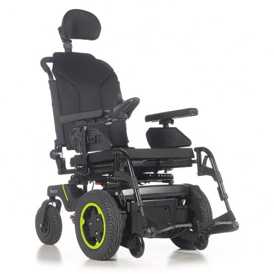 Cadeira de rodas Q400 F Sedeo Lite Sunrise Medical - Cadeira de rodas elétrica com tração dianteira. Desempenho superior em ambientes fechados e ao ar livre