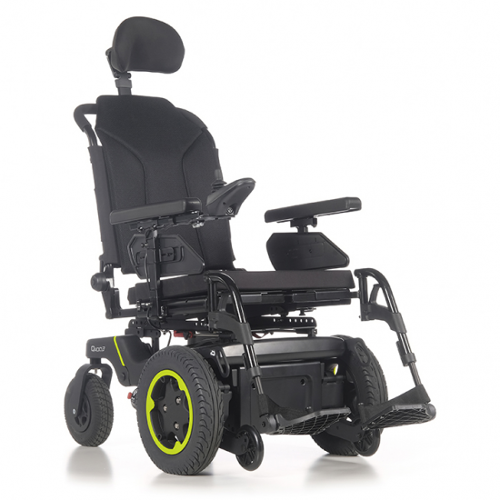 Wheelchair Q400 F Sedeo Lite Sunrise Medical - Electric wheelchair with front wheel drive. Superior performance indoors and outdoors