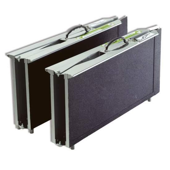 Valise type rampe Multiplegado R2P240 - Rampe métallique de 240 cm pour fauteuils roulants et scooters