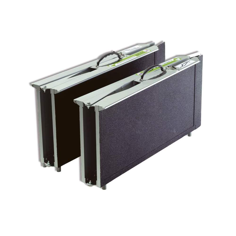 Rampa tipo maleta Multiplegado R2P240 - Rampa metálica de 240 cms para sillas de ruedas y scooters