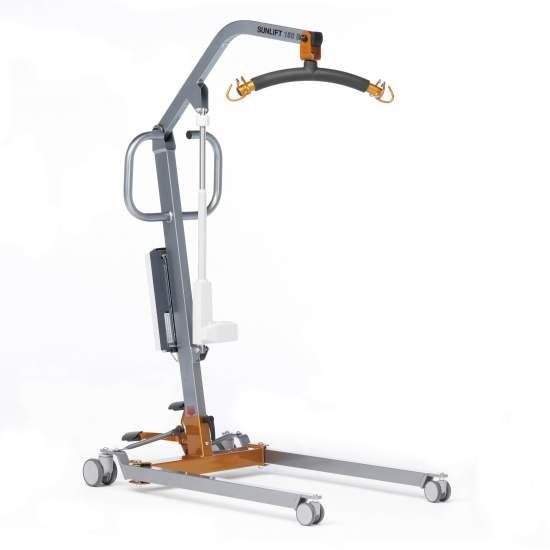 Grue Sunlift Midi Electric (150 Kg.) -  Le meilleur allié du soignant. Sunlift Midi est une grue de levage et de transfert de patient électrique, pouvant accueillir jusqu'à 150 kg d'utilisateurs.