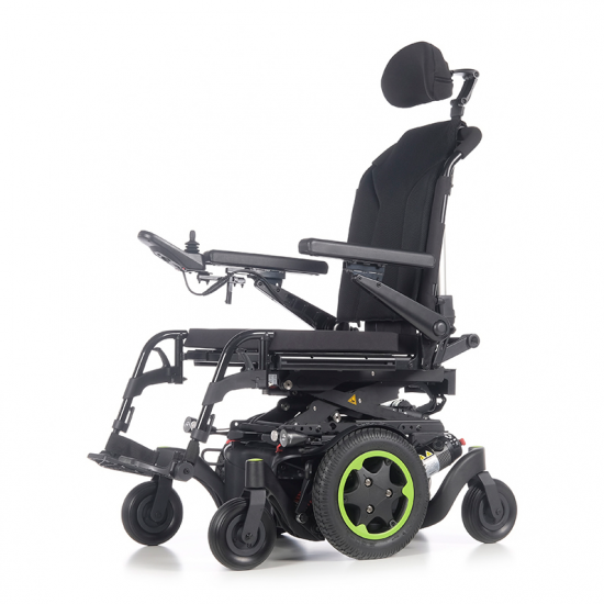 Cadeira de rodas Q400 M Sedeo Lite da Sunrise Medical - Cadeira de rodas eléctrica com tracção central Q400® M , a combinação perfeita entre motores, suspensão independente nas 6 rodas, tecnologia anti-roll que minimiza os movimentos da carroçaria e um raio de viragem reduzido, para desfrutar...