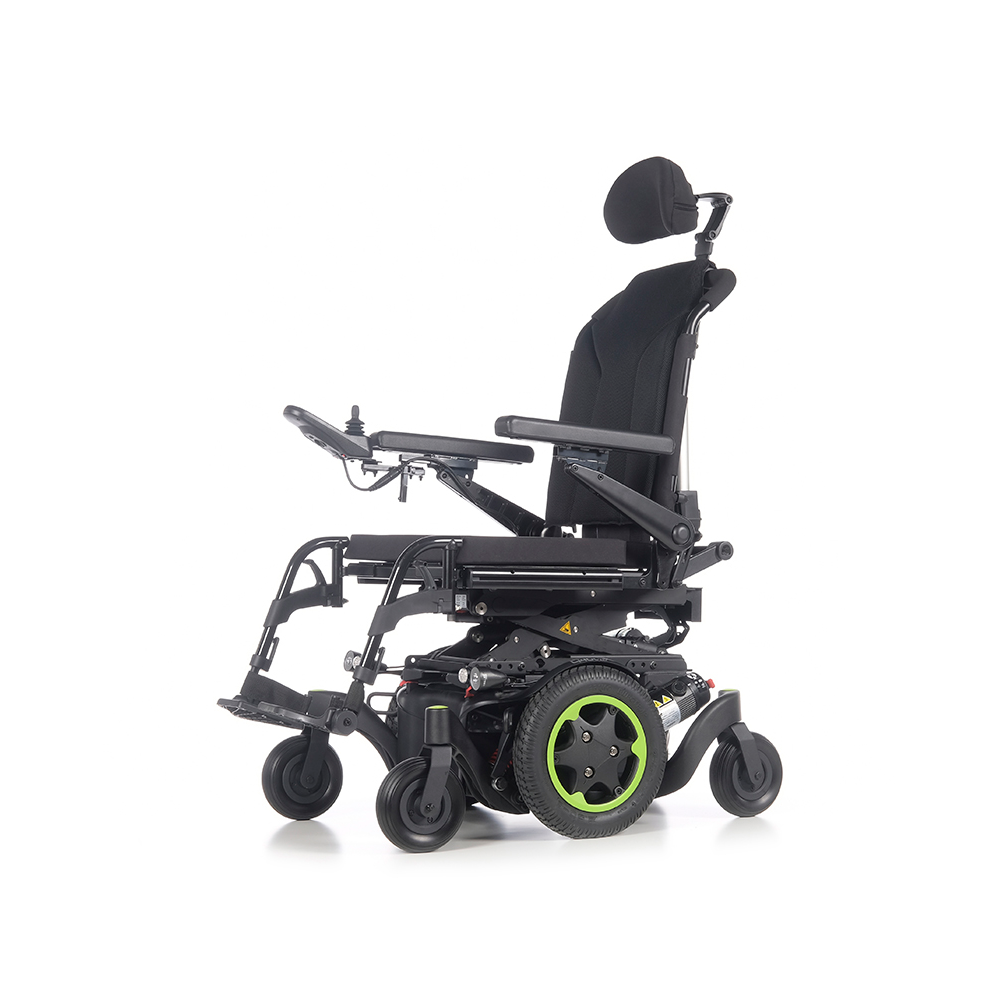 Silla de ruedas Q400 M Sedeo Lite de Sunrise Medical - Silla de ruedas eléctrica con tracción central Q400® M, la combinación perfecta entre motores, suspensión independiente en las 6 ruedas, tecnología anti-balanceo que minimiza...
