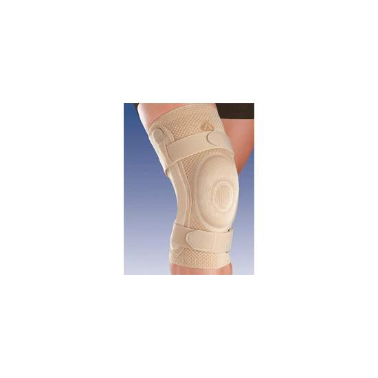 BREATHABLE ELASTIC KNEE CLOSED HEAD RUNNER WITH SILICON AND METAL STRIP JOINT WITH POLYCENTRIC 8106