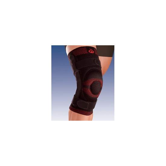 BREATHABLE ELASTIC KNEE CLOSED HEAD RUNNER WITH SILICON AND METAL STRIP JOINT WITH POLYCENTRIC 9106