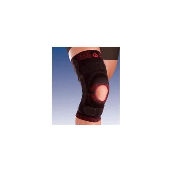BREATHABLE apoio do joelho elástico com SILICONE CABEÇA impulsor aberto e lâminas METAL COM 9.107 joint policêntrico
