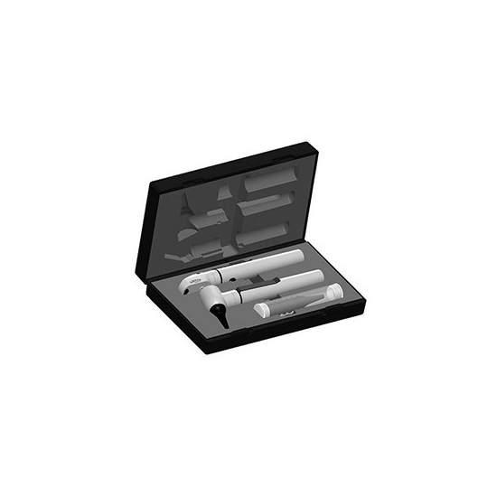 Otoscópio / Oftalmoscópio E-SCOPE PRETO leve de vácuo no caso. 2131-202.