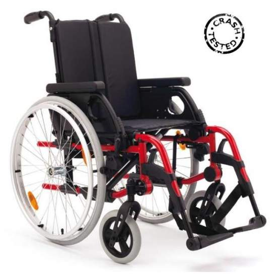 Rubix 2 Folding wheelchair -  The active wheelchair BREEZY Rubix 2 incorporates multiple possibilities of adjustments and adaptations. It allows to regulate: the depth, height and angle of the seat, backrest height, the center of gravity and length of the armrest....