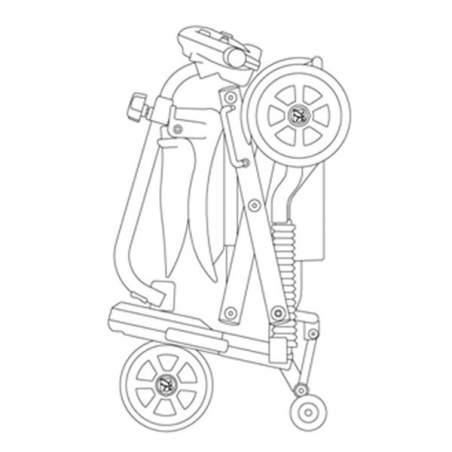 Pieghevole scooter Brio S19 del marchio Apex