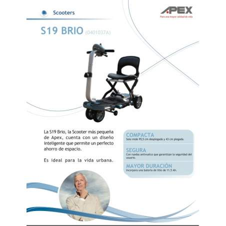 Folding Scooter Brio S19 of the Apex brand