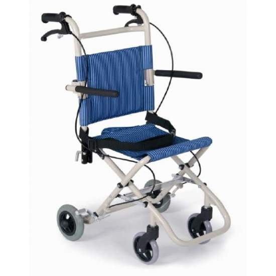 FOLDING TRANSFER CHAIR IN ALUMINUM