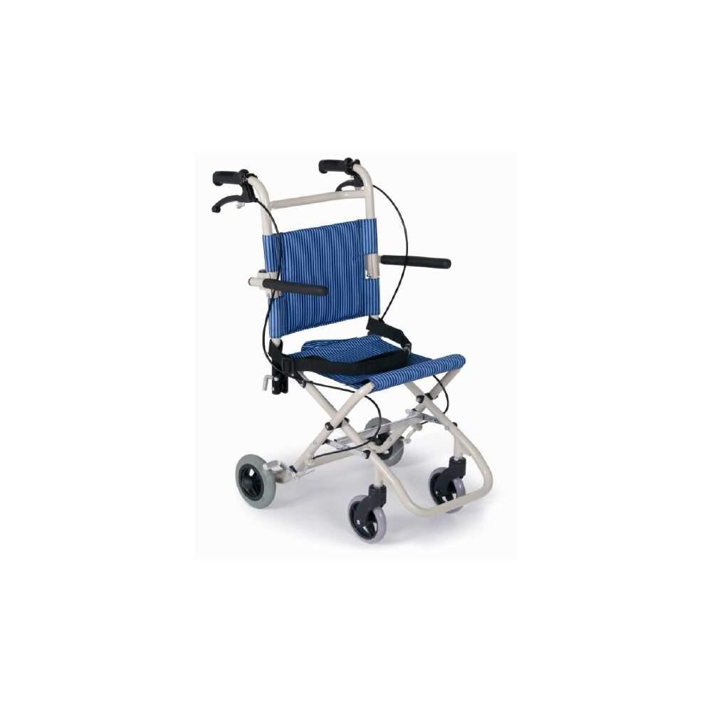 Silla traslado plegable en aluminio - Sillas de ruedas plegables y ligeras ...