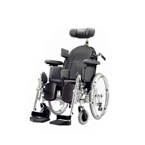 SILLA DE RUEDAS DE POSICIONAMIENTO PLEGABLE  TRITON - With its solid construction and outstanding facilities, the Triton model offers maximum comfort and versatility in both home care and clinic.