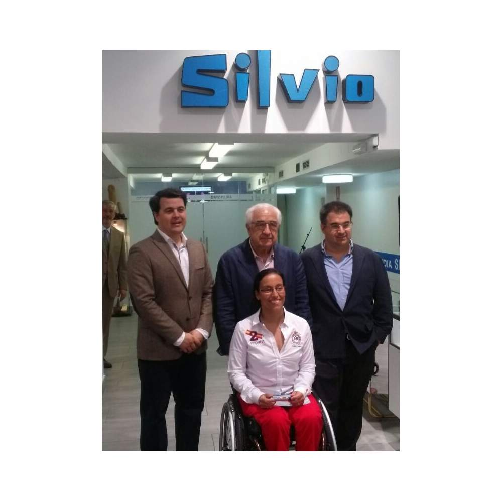 Silvio Orthopedics collaborates with Teresa Perales with a wheelchair