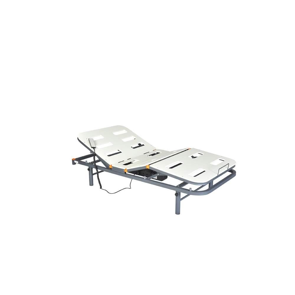 4 cama plana elétrica articulada PVC Geria - 4 cama cama articulada eléctrica plana, com pés reguláveis e PVC.