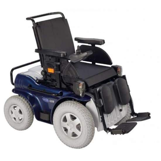 Invacare G50 - Silla de ruedas electrónica de exterior con tracción delantera - With the G50 Invacare enjoy exceptional mobility in the outdoors thanks to its high maneuverability, stickiness and autonomy. Further comprises good suspension and a large number of seats and adjustable options