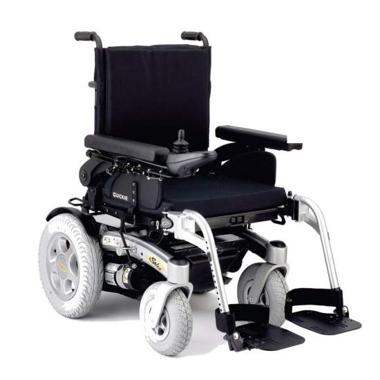 Quickie Salsa - electronic wheelchair - The new Quickie Salsa is the ideal chair to move over rough terrain, to overcome obstacles and ramps up thanks to its robust construction, its power and its large wheels. Also to move freely indoors by combining a minimum height of seat...