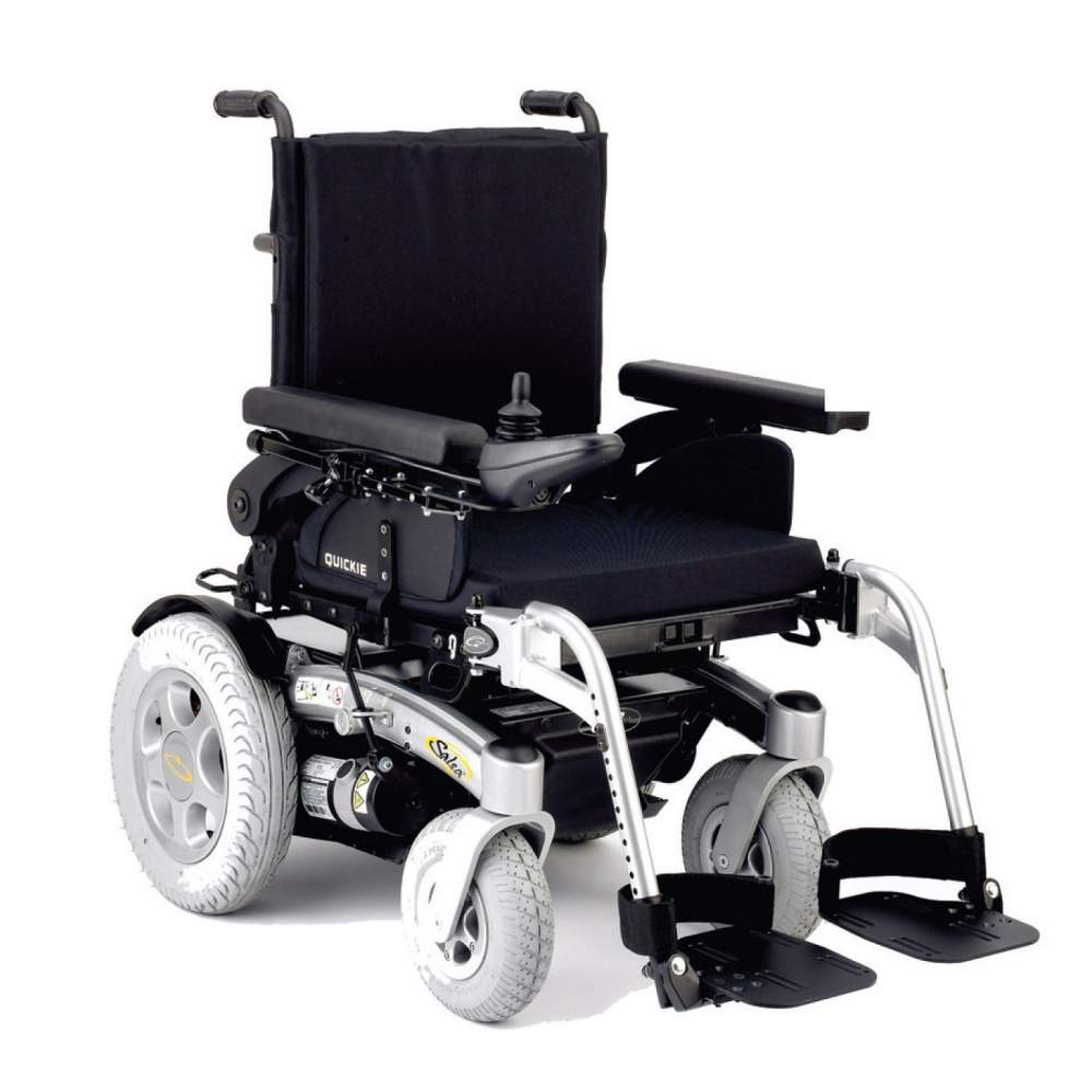 Quickie Salsa - electronic wheelchair - The new Quickie Salsa is the ideal chair to move over rough terrain, to overcome obstacles and ramps up thanks to its robust construction, its power and its large wheels. Also...