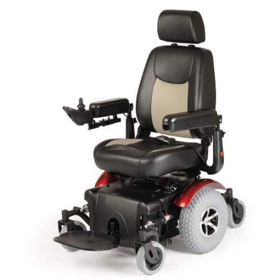 Sedia a rotelle elettrica Aid R320 Dynamics - Generazione Carrozzina elettronica.È dotato di movimento indipendente delle 6 ruote, che fa manovra e rende questa sedia una sedia molto speciale.Ideale per uso interno ed esterno, grazie alle sue batterie e motori, l'uso può essere...
