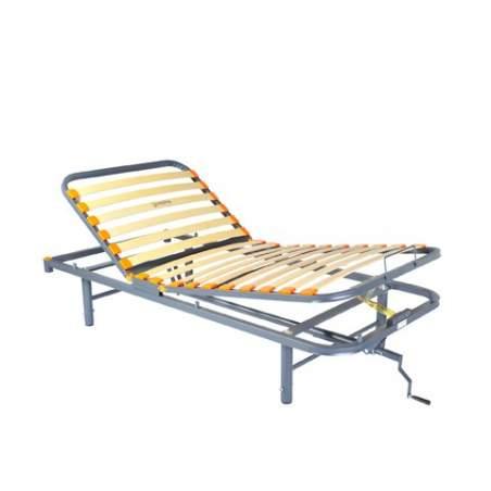 Geria Hus cama articulada manualmente 3 Planos, patas regulables