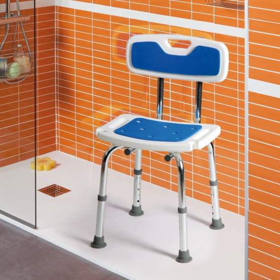 Sedia in alluminio morbido Samba - Le sedie in alluminio Samba morbide sono appositamente progettati per l'utilizzo in bagno.