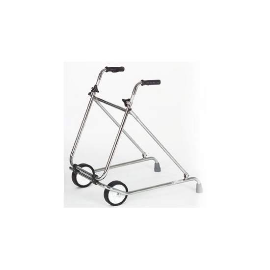 Deambulatore pieghevole - Acciaio cromato girello con ruote ø 150 mm.  Codice 12060003 disposizione