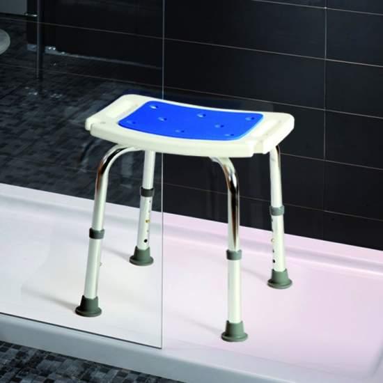 Tamborete de alumínio macio Samba - Fezes alumínio macio Samba são projetados especialmente para o uso no banheiro.