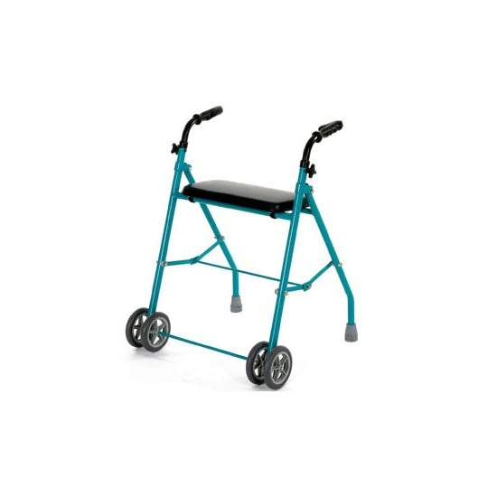 Double folding aluminum walker wheel