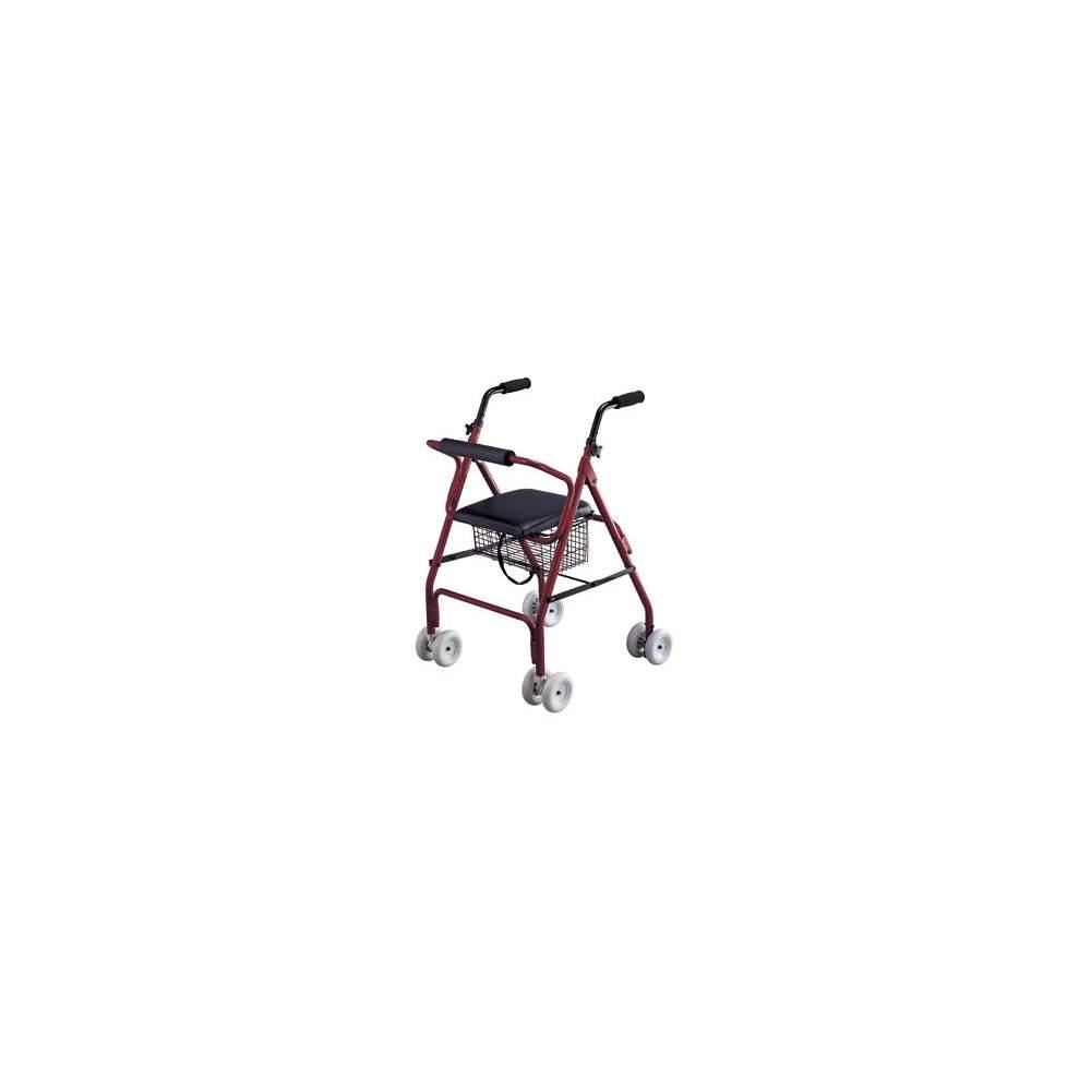 Andador plegable rolator de aluminio con freno  - Andador rolator muy ligero y maniobrable, fabricado en aluminio. Fácil de plegar y guardar. Freno por presión en los puños. Rolator de aluminio Roler AD160