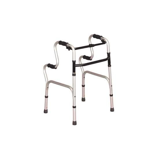 Andador sin ruedas con ayuda para levantarse - Además de caminador, sirve como ayuda para incorporarse desde la posición de sentado.  Código prestación 12060003