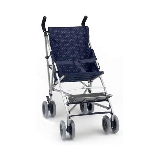 Silla paraguas plegable respaldo reclinable - Silla de paseo para niños con parálisis cerebral, fabricada en aluminio de alta resistencia. Plegado muy sencillo y cómodo (tipo paraguas) para transportarla más fácilmente.