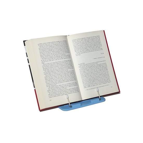 Púlpito azul H7290 - Possui livros e revistas, sem a necessidade de usar as mãos.Este suporte é pequeno, leve e dobrável, portanto, capaz de transportar facilmente.