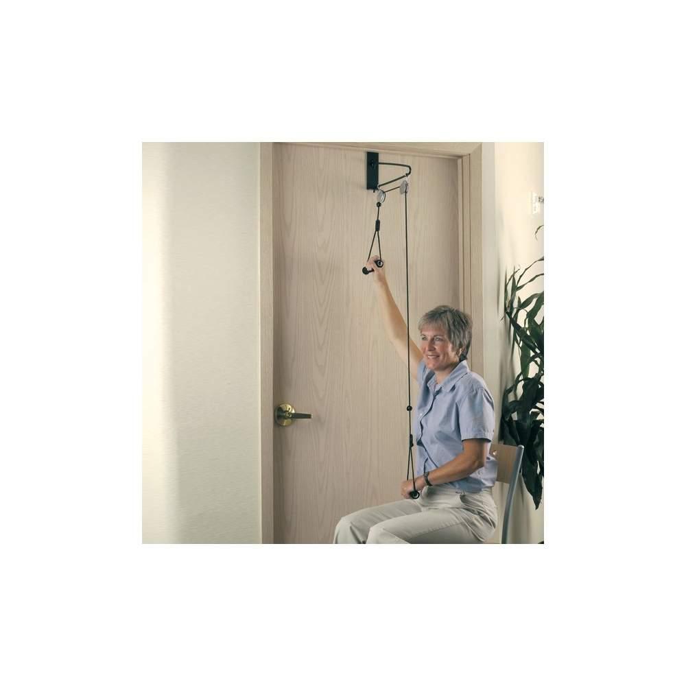 Esercizio Pulley H9200 - Per aumentare il tono muscolare e aumentare la gamma di movimenti del braccio. È posto sulla porta ed è facile da usare.Include il gancio a muro.