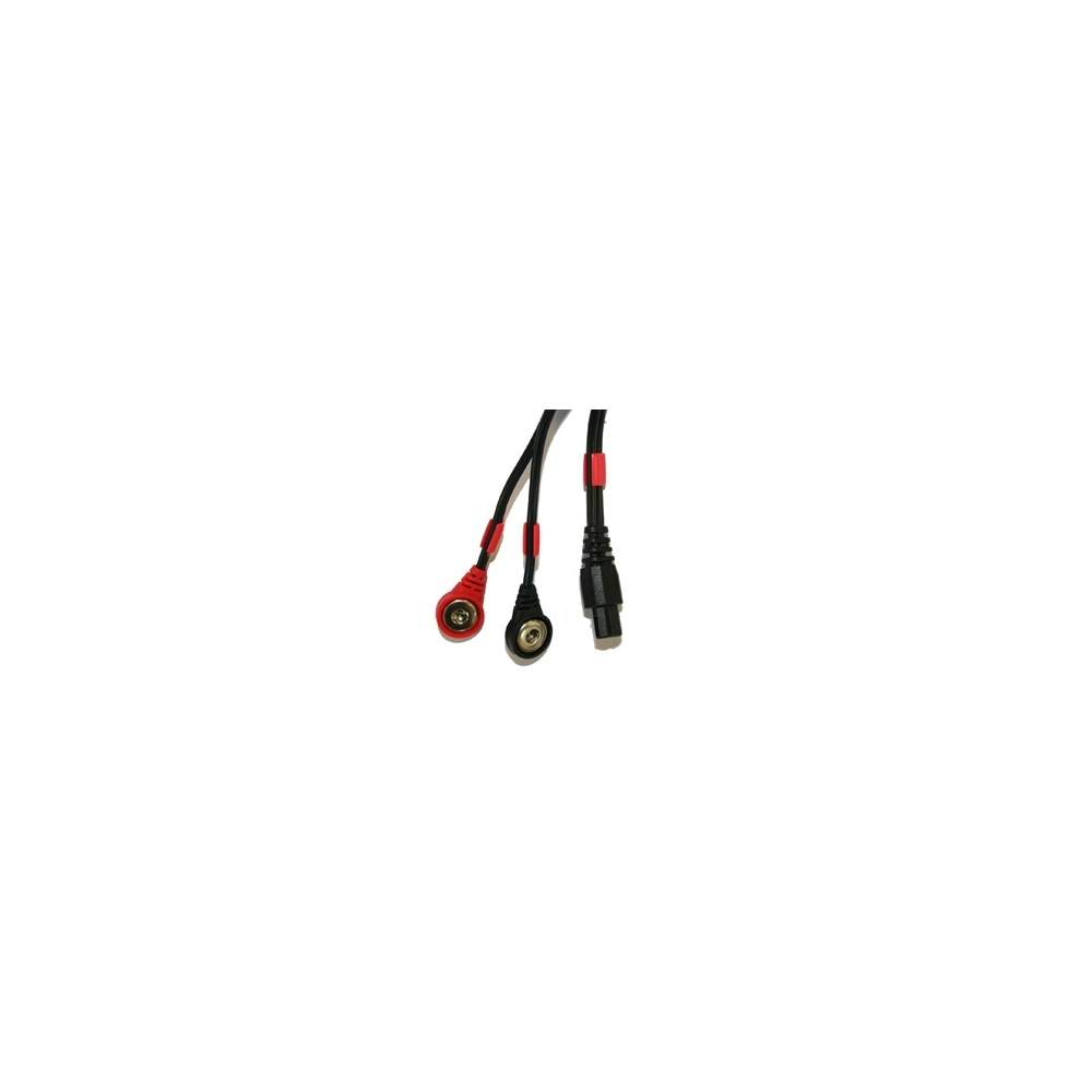 Cable COMPEX conexión Snap 6P (negro)