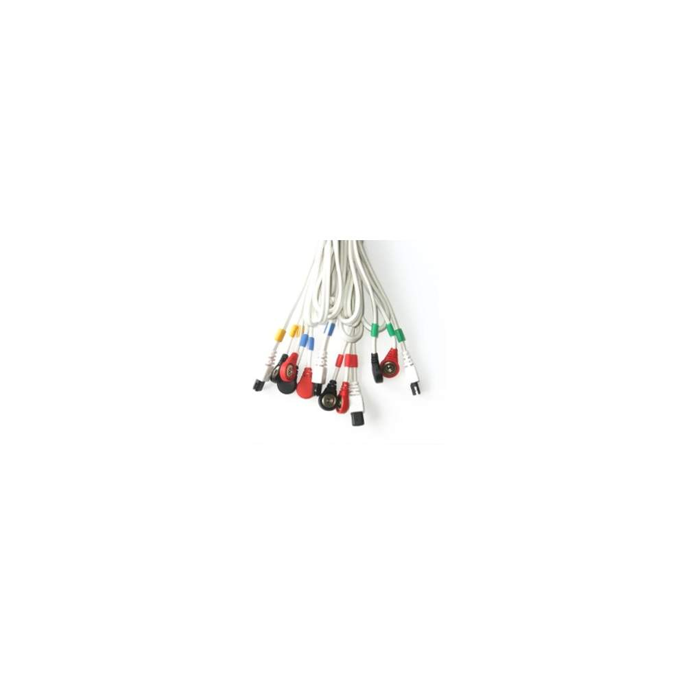 Cables COMPEX conexión Snap 6P (blanco)